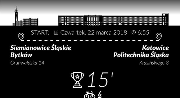 Zdążyć przed szczytem – wyniki wyścigu z Siemianowic na Wydział Transportu Politechniki Śl.